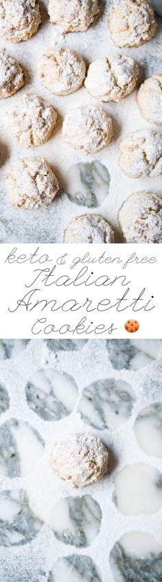 Gluten Free & Keto Amaretti Cookies #ketocookies #lowcarbcookies