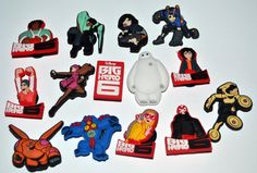 Big Hero 6 14pc Mega Shoe Charms Birthday Party Pack, Locker Magnets, Back Pack Zipper Pulls Kids gift by GroovyDeals on Etsy