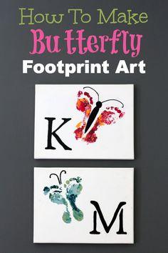 How To Make Butterfly Footprint Art