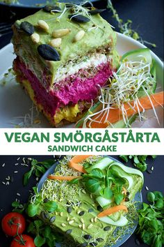 Smörgåstårta is a delicious Swedish sandwich cake that will surely amaze your guests at your next party! Learn how to make the healthiest and easiest vegan sandwich cake using this recipe! Best Vegan Recipes, Sweet Recipes, Vegetarian Recipes, Vegan Vegetarian, Favorite Recipes, Vegan Appetizers, Appetizer Recipes, Dinner Recipes, Vegan Baking