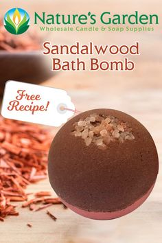 Free Sandalwood Bath Bomb Recipe by Natures Garden