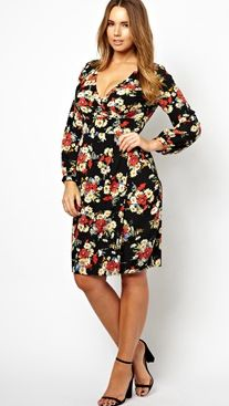 October 15th Launch :Tulip Dress In Floral Print by Asos Curve