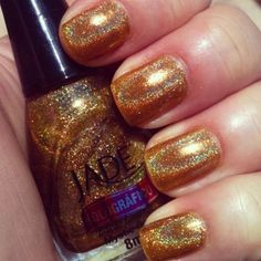 holographic esmalte gold esmalte do dia, nailart