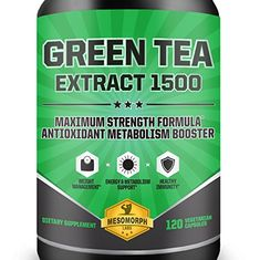Green Tea Extract 1500 Supplement with EGCG | High Potency Antioxidant For Weight Loss | Heart Healthy Metabolism Booster With A 100% Money Back Guarantee | 60 Day Supply | 120 Vegetarian Capsules * Click image for more details.  This link participates in Amazon Service LLC Associates Program, a program designed to let participant earn advertising fees by advertising and linking to Amazon.com.
