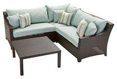 Palmetto 4-Pc Corner Sofa Set w/ Table on OneKingsLane.com
