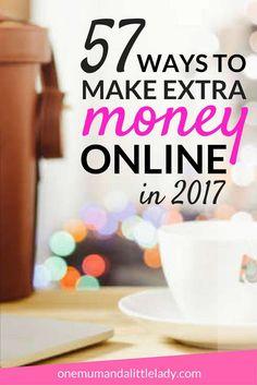 57 Ways To Make Extra Money Online (That Don't Involve Survey Sites) via /https/://uk.pinterest.com/1mumlittlelady/