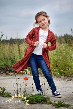 Apple girls cardigan pdf girls pdf pattern sewing pattern