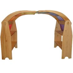 """These Waldorf Playstands will entertain your child for hours! They are known as """"Natural Open Ended Toys"""". Their uses are endless. They can be used for puppet theaters, storefronts, make believe kitchens and anything else that your child's imagination will come up with. You can drape a rainbow silk or large cotton cloth to make a fort or a little house."""