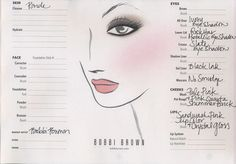 Wedding Day Face Chart: Source: Face chart provided by Bobbi Brown