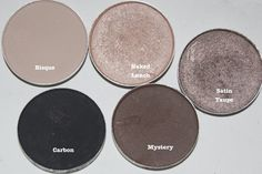 Must Have Mac Eyeshadows. Purchased Satin Toupe, Naked lunch and Mystery. Satin toupe is difficult to learn to blend, but lovely. Naked lunch is good for hundreds of combos day or night, Mystery was a bit of a disappointment, not as dark as it looks, so does not offer as much depth next to Satin as I had hoped. ~Jess