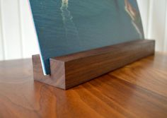 Black Walnut Vinyl Album Display Holder  by ShadyMapleWoodworks