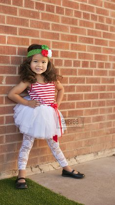 "WHITE AND RED ""CANDY CANE LANE"" DRESS"