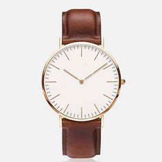 Women leather band Analog Quartz wristwatch