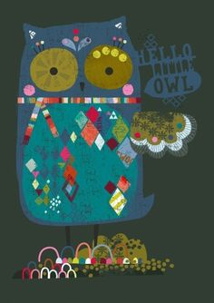 'Oh Little Owl' by paperandcloth