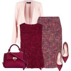 Spring Work Wear #6 by alpate on Polyvore featuring moda, Warehouse, ESCADA, Zara and Salvatore Ferragamo