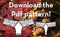 free lacey thong panty pattern!