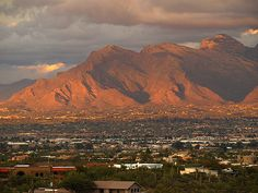 Mountain Sunset in Tucson, Arizona, my second home.