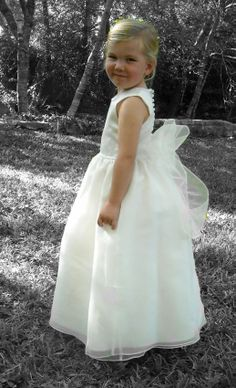 #Wedding Dresses, #Bridesmaid Dresses, #Prom Dresses #Bridal Dresses Rosebud #Fashions #Flower Girl Dresses #Rosebud Fashions Flower Girl Dresses, #Tea length gown with sash at the waist #timelesstreasure