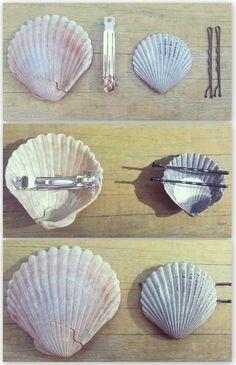 Seashell Crafts, Beach Crafts, Diy And Crafts, Arts And Crafts, Seashell Projects, Crafts Cheap, Simple Crafts, Mermaid Diy, Mermaid Makeup