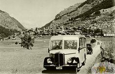 Années 50 entre Evolène et les Haudères Antique Cars, Antiques, Image, Vintage Cars, Antiquities, Antique, Old Stuff