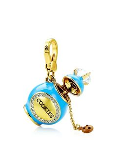 """COOKIE JAR CHARM $58.00 STYLE NUMBER: YJRU7917   Add to wish list ADD TO BAG Special Offer 40% off Jewelry  DETAILS DESCRIPTION Cookie-nistas, here is the charm that you've been waiting for! Juicy logo on lobster clasp. Cubic Zirconia/Brass/Glass Imported 1.3"""" L"""