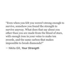 Your strength:
