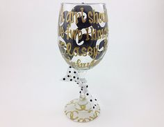 Coco Chanel A Girl Should be two things: Classy and Fabulous Personalized Wine Glass Custom Birthday 30 40 50 60 Wedding