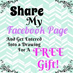 Share my page and get entered Book a party with me today! I love having online parties as well as in home!!