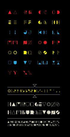 Hyped Free Font, una tipografía colorista y geométrica
