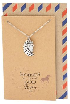 Wear this faith charm to remind yourself on how grateful and excited you are to share this amazing story of God's love. Bring faith close to your heart with this silver-tone Christian necklace. Friendship Jewelry, Horse Necklace, Christian Christmas, Horse Quotes, Christmas Quotes, Faith In God, Gods Love, Grateful, Handmade Jewelry