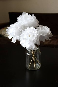 Activité manuelle d'hiver de fleurs en papier #DIY