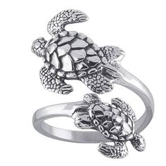 Sea Turtles Sterling Silver Ring Sea Turtle Adjustable Bypass Nautical Nature Ocean Jewelry Unrealfind, http://www.amazon.com/dp/B009C3W5MC/ref=cm_sw_r_pi_dp_Rc3.qb173G78S