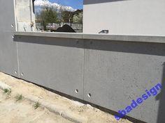 Beton architektoniczny płyty betonowe ogrodzenia