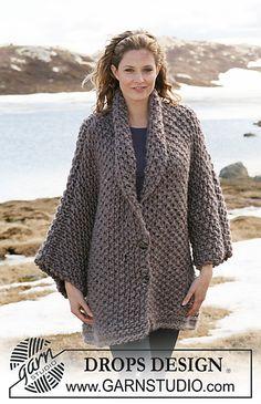 FREE--pattern jacket in moss stitch 24-2_medium