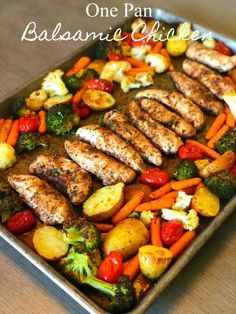 Let me introduce you to the perfect Summer meal, one pan balsamic chicken! - - Let me introduce you to the perfect Summer meal, one pan balsamic chicken! There is hardly any prep time but tons of flavor! The added bonus is how he. Healthy Dinner Recipes For Weight Loss, Healthy Meals For One, Clean Eating Dinner Recipes, Healthy Supper Ideas, Heart Healthy Recipes, Healthy Summer Dinner Recipes, Easy Summer Dinners, Healthy Low Calorie Meals, Weight Loss Meals