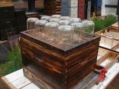 Save Bees Mason Jar Beehive