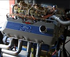 Ford 427 SOHC This engine was so powerful Nascar banned it From racing. Ford Racing Engines, Race Engines, Motor Engine, Car Engine, Motor Ford, Performance Engines, Mustang Fastback, Ford Fairlane, Drag Cars