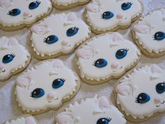 Sweet Kitten Cat Decorated Sugar Cookies  Cat by MartaIngros