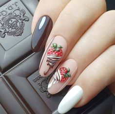 New nail art trends bring you unlimited nail design inspiration - Page 108 of 117 - Inspiration Diary Halloween Acrylic Nails, Summer Acrylic Nails, Cute Acrylic Nails, Cute Nails, Summer Nails, Watermelon Nail Designs, Watermelon Nails, Fruit Nail Designs, Pink Nail Art