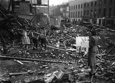 Операция Blitz: 75 лет с начала массовых бомбардировок Великобритании в 1940 г - //   Британская художница Этель Габайн все военные годы вела художественную летопись — она рисовала лондонские пейзажи разрушений после бомбежек, бытовые сценки, портреты лондонцев, сражающихся за свой город.