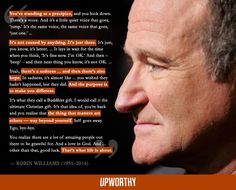 Here's a Robin Williams quote you probably haven't seen in your news feed.