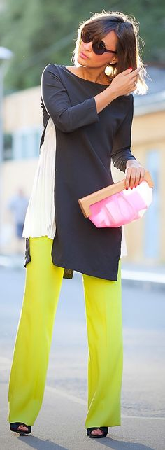 Galant Girl Colorblock Outfit Idea