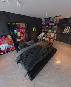 Bedroom Setup, Room Design Bedroom, Room Ideas Bedroom, Home Room Design, Bedroom Decor, Mens Room Decor, Home Decor, Hypebeast Room, Objet Deco Design