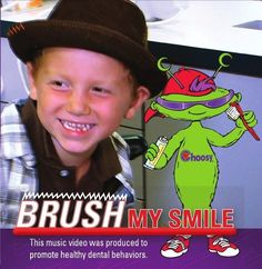 Brush My Smile DVD is a new single song music video featuring Choosy promoting oral health messages. Getting ready for going to the dentist is fun with Choosy!