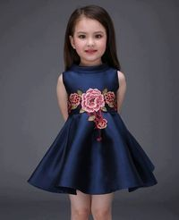 Kids Toddler Girls Active Sweet Party Going out Floral Embroidered Sleeveless Above Knee Polyester Spandex Dress Royal Blue Fashion Kids, Little Girl Fashion, Latest Fashion, Party Fashion, Fashion Trends, Fashion Fashion, Outfits Niños, Kids Outfits, Fall Outfits