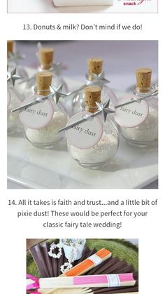 Disney inspired wedding favors. Perfect to use for the bride and groom exit.