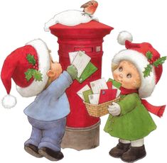 Bonjour , Ce jour tant attendu par les enfants est arrivé ... Plus quelques heures et ils sauront si leur lettre est bien arrivée chez le grand monsieur tout de rouge habillé ... Révons encore un peu Je vous souhaite de passer à Toutes et à Tous de joyeuses...