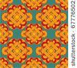 stock vector : Vector Seamless Oriental Tile (background, wallpaper, texture, pattern)