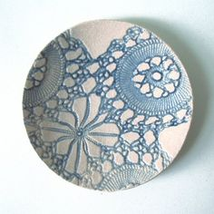 Blue lacy mini dish by PrinceDesignUK on Etsy