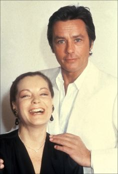 Alain Delon e Romy Schneider nel 1991